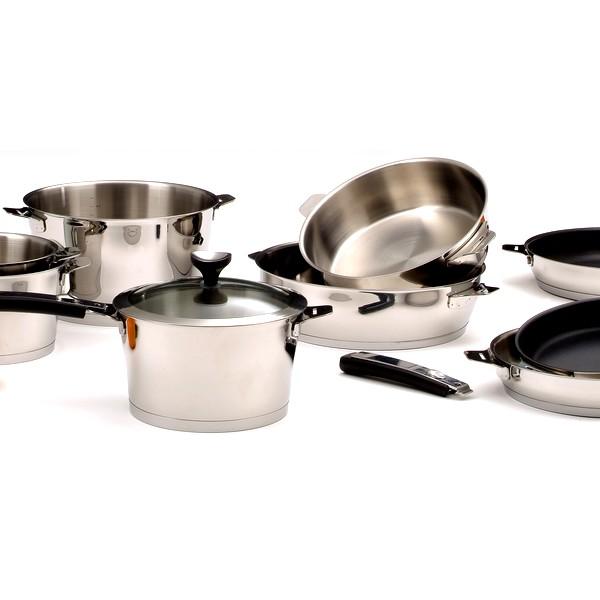 Série de 3 casseroles Asana Cuisinox, diamètres 16 cm, 18 cm et 20 cm, poignée fournie