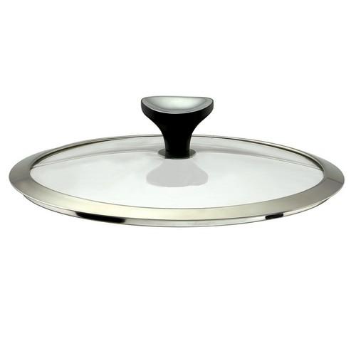 Couvercle en verre (bouton en bakélite et inox) Asana Cuisinox, diamètre 28 cm. Couvercle en verre sana Cuisinox, diamètre 28 cm,
