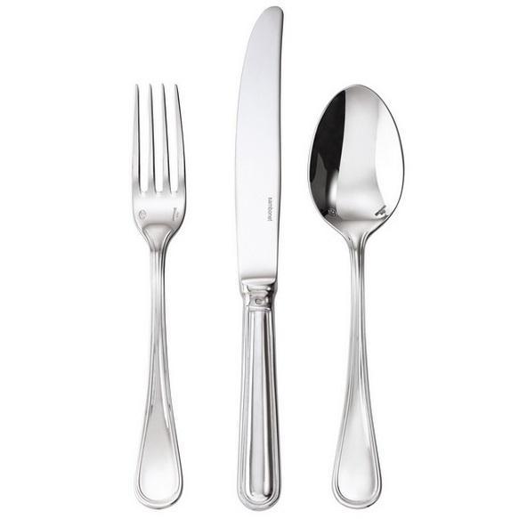 Couteau à beurre, manche orfèvre Contour Métal argenté Sambonet