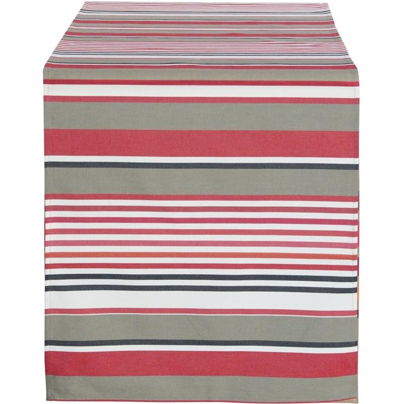 chemin de table coloris ottoman poudre linge basque tissage de luz. Black Bedroom Furniture Sets. Home Design Ideas