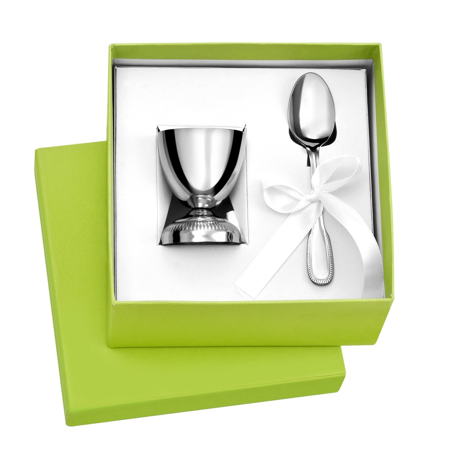 coquetier et cuill re en inox cadeaux de baptemes prix. Black Bedroom Furniture Sets. Home Design Ideas