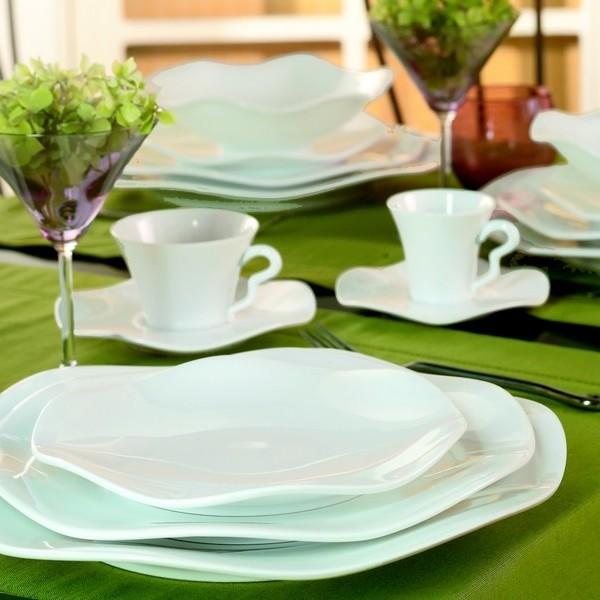 vente en ligne service de table gala blanc m dard de. Black Bedroom Furniture Sets. Home Design Ideas