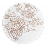 Lot de 6 Assiettes plate Ambre