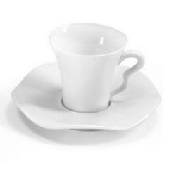 Tasse et soucoupe à thé Gala blanc 15 cl vendue par 6, prix par pièce. Médard de Noblat