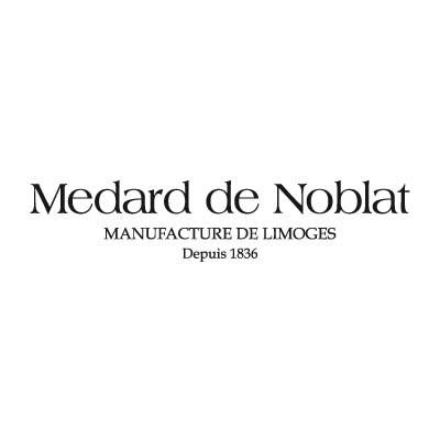 Assiette à salade et pâtes Blanche Grain de Malice Médard de Noblat diamètre 20,5 cm.