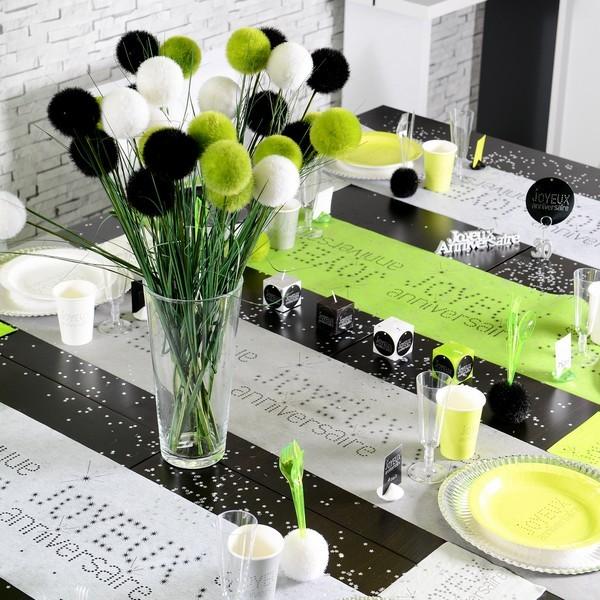 Deco blanche anniversaire id e inspirante - Petit chemin de table ...