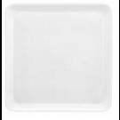 Assiette carrée Yaka Blanc Médard de Noblat, 25,5 x 25,5 cm. Vendue par 6.