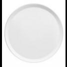 Assiette plate Yaka Blanc Médard de Noblat, diamètre 27 cm. Vendues par 6.