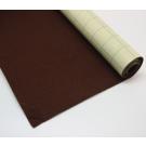 Coupon de tissu feutre Marron autocollant pour couvrir la base du tiroir 40 x 45 cm