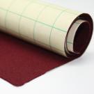 Coupon de tissu feutre Bordeaux autocollant pour couvrir la base du tiroir