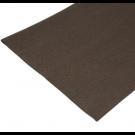 Coupon de tissu feutre anti-oxydant Marron pour recouvrir les couverts (non adhésif) 70 x 45 cm.