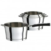 Série de 4 casseroles Asana Cuisinox, diamètres 14 cm, 16 cm, 18 cm et 20 cm, poignée fournie