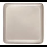 Assiette Carrée Yaka Taupe Médard de Noblat, 25,5 x 25,5 cm. Vendues par 6.