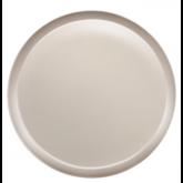 Assiette plate Yaka Taupe Médard de Noblat, diamètre 27 cm. Vendues par 6.