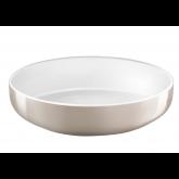 Assiette à salade et pâtes Yaka Taupe Médard de Noblat, diamètre 20 cm. Vendues par 6.