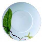 Assiette à dessert Ikébana, BANANIER diamètre 21,5 cm, vendue par 6, prix par pièce.