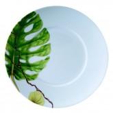 Assiette à dessert Ikébana, PHILODENDRON, diamètre 21,5 cm, vendue par 6, prix par pièce.