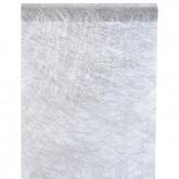 Chemin de table Fanon métallisé, couleur argent, 1 rouleau de 5 mètres.