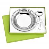 Coffret assiette et cuillère pour enfant en inox
