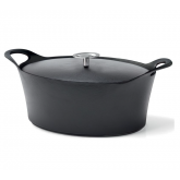 Cocotte ovale noire Volcan Cuisinox avec couvercle, diam 35 cm