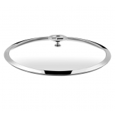 Couvercle en verre (bouton en acier et inox) Universel Cuisinox, diam 16 cm