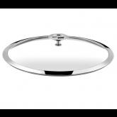 Couvercle en verre (bouton en acier et inox) Universel Cuisinox, diam 20 cm