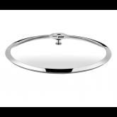 Couvercle en verre (bouton en acier et inox) Universel Cuisinox, diam 24 cm