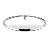 Couvercle en verre (bouton en acier et inox) Universel Cuisinox, diam 28 cm
