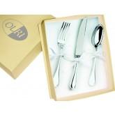 Fourchette, couteau et cuillère en Métal Argenté