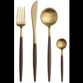 Set de 24 pièces Goa Marron et doré Cutipol (sans écrin)