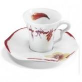 Tasse et soucoupe à café Fidji 9 cl vendue par 6, prix par pièce. Médard de Noblat