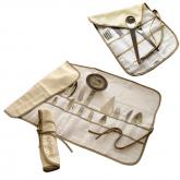 Housses beige Herdmar de rangement pour couverts