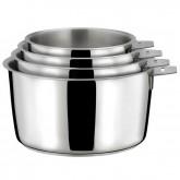 Série de 3 casseroles Malice Cuisinox diamètres 16 cm, 18 cm et 20 cm + 1 poignée