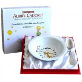 Coffret Petit Prince assiette en porcelaine et cuillère en métal argenté