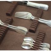 Rangement argenterie: supports et tissus antioxydant Marron
