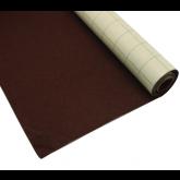 Coupon de tissu feutre  anti-oxydant Marron autocollant pour couvrir la base du tiroir 70 x 45 cm