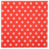 Lot de 20 serviettes en papier Rouges à pois blancs