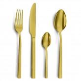 -50% Ménagère 16 pièces Amefa Square PVD couleur doré