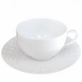Tasse et soucoupe à café Sania 11 cl vendue par 6, prix par pièce. Médard de Noblat.