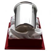 Timbale en métal argenté modèle Serti Aubry Cadoret