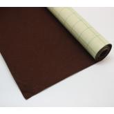 Coupon de tissu feutre Marron autocollant pour couvrir la base du tiroir 70 x 45 cm
