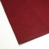 Coupon de tissu feutre Bordeaux pour recouvrir les couverts (non adhésif) 70 x 45 cm.