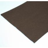 Coupon de tissu feutre Marron pour recouvrir les couverts (non adhésif) 70 x 45 cm.