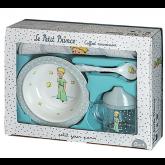 Vaisselle bébé le petit prince, coffret cadeau 4 pièces