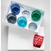 -30% Coffret 6 verres Multicolore Lente Mario Luca Giusti