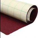 Coupon de tissu feutre anti-oxydant Bordeaux autocollant pour couvrir la base du tiroir (70 x 45 cm)