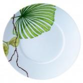 Assiette à dessert Ikébana, PALME, diamètre 21,5 cm, vendue par 6, prix par pièce.