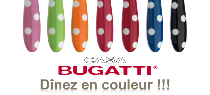 Art de la table chemin de table - Couverts de table bugatti de couleur ...